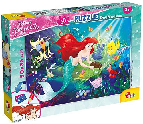 Lisciani Giochi- Little Mermaid Puzzle Doppia Faccia, 60 Pezzi, Multicolore, 74051