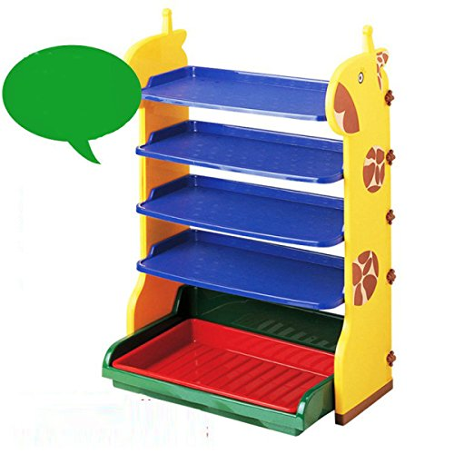 HQQ Schuhregal Kinderschuhregal Kunststoff Giraffe Kinderschuhregal Babyschuhe Kunststoffregal...