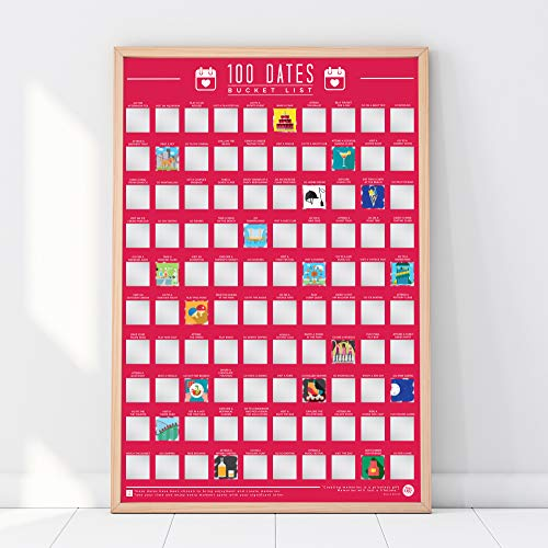 100 Dates Bucket List Scratch Poster