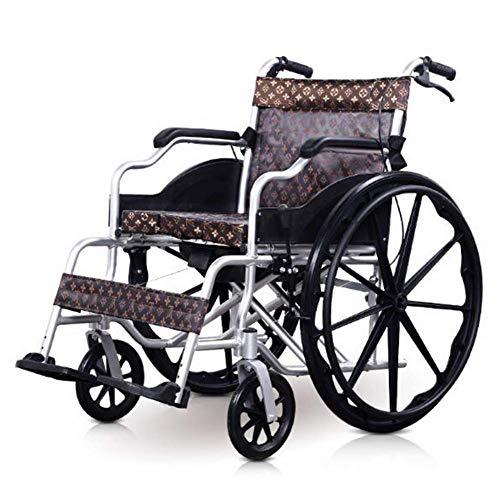 WXDP Selbstfahrender Aluminium-Rahmen, leichter und faltbarer Rahmen, tragbarer Transport-Reisesessel, verstellbare Fußstützen, zusammenklappbarer Trolley, A