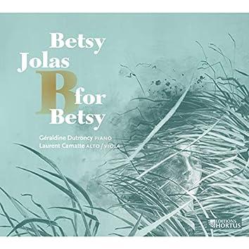 Jolas: B for Betsy