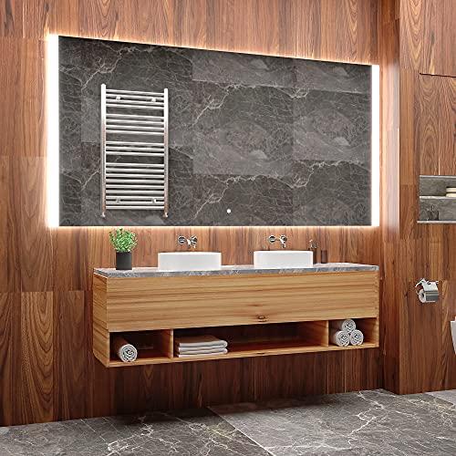 ARTTOR Badspiegel mit Beleuchtung - Bad Dekoration - Wandspiegel Groß und Spiegel Klein mit Led Licht - Unterschiedliche Lichtanordnung und Alle Dimensionen - M1CD-28-90x90
