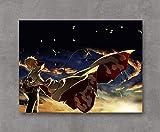 SSKJTC - Lienzo con impresión de Naruto Sky Rising Wind estirado y enmarcado listo para colgar 40,4 x 30,8 cm