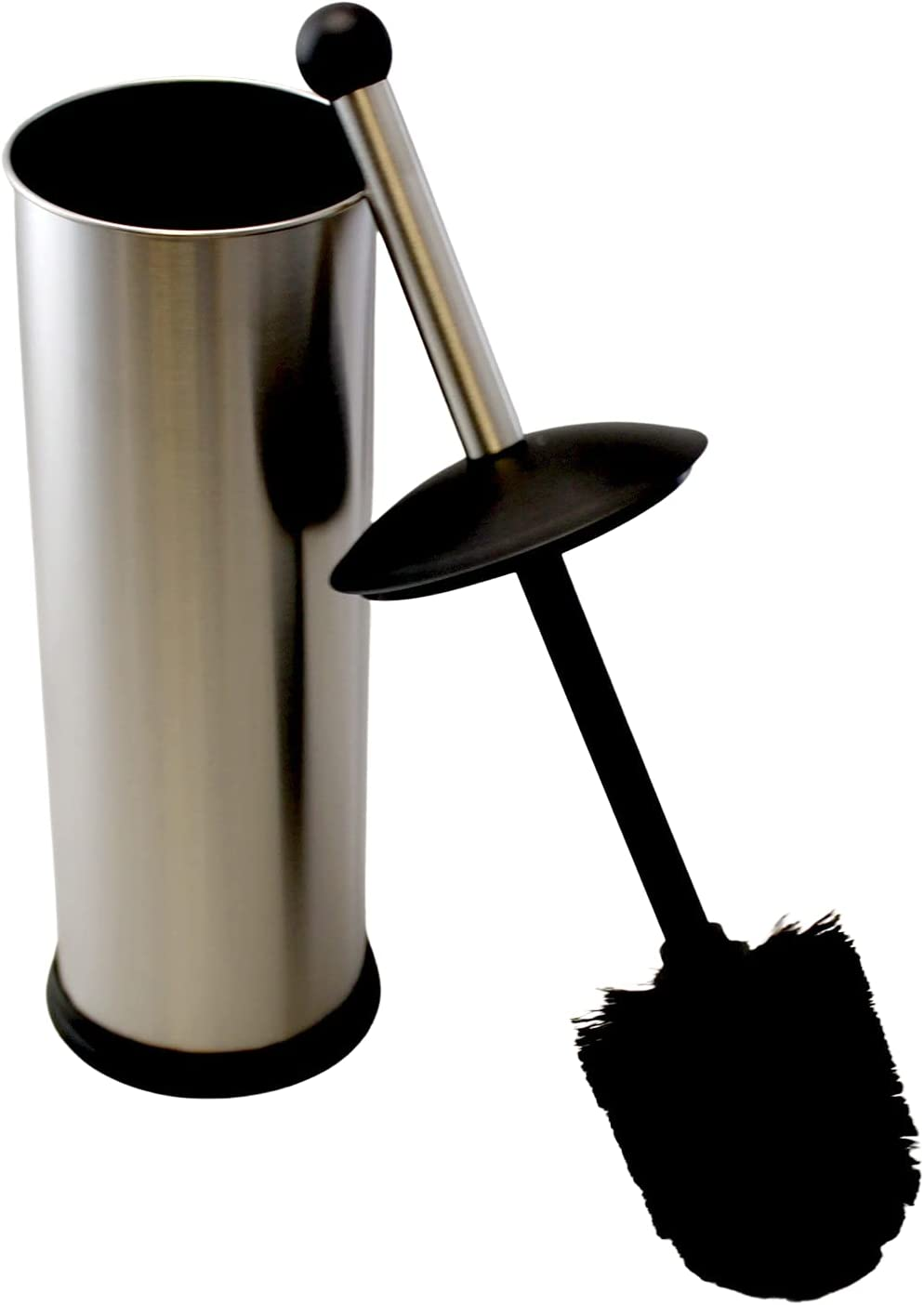 Brushed Stainless Steel Toilet Brush Max 86% OFF Freestandin Holder Classic Set with