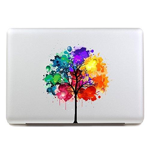 """VATI Hojas desprendibles Colorido árbol Mejor Sticker Decal la Piel del Vinilo del Arte Apple Macbook Pro Aire Mac de 13""""Pulgadas/Unibody 13 Inch Laptop"""