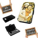 PixiPrints Flipcase mit eigenem Foto & Text selbst gestalten * Handy Cover Schutzhülle, Kompatibel mit Samsung Galaxy A70