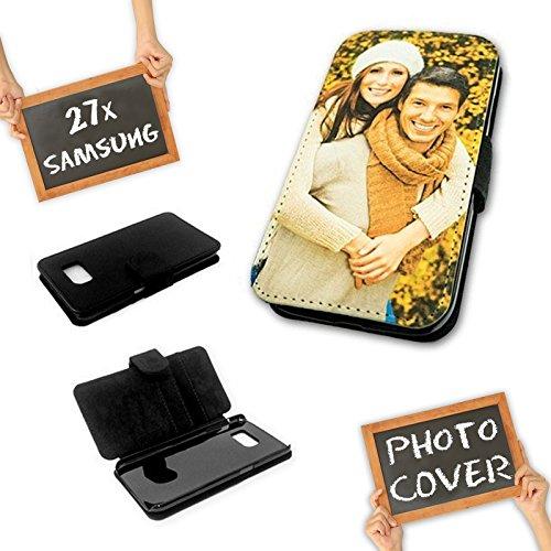 PixiPrints Flipcase mit eigenem Foto und Text selbst gestalten * Handy Cover Schutzhülle, Kompatibel mit Samsung Galaxy S4 Mini