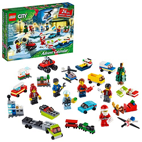 LEGO City 2020 Advent Calendar 60268 Playset, Includes 6 City Adventures TV Series Characters, Miniature Builds, City Play Mat, and Many More Fun and Festive Features (342 Pieces)