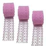 3Rollen 10Meter Floral Spitze Band Stretch Lace Trim Elastic Gurtband Stoff für selbstgemachten...