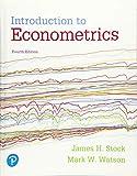 Introduction to Econometrics (Pearson Series in Economics)