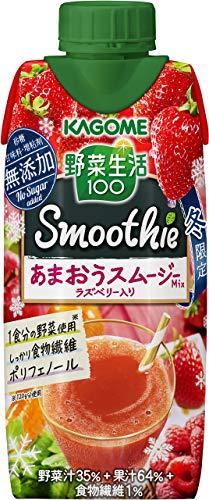 カゴメ 野菜生活100Smoothie(スムージー) あまおうMixラズベリー入330ml ×12本