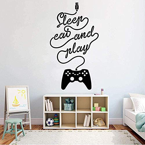 ClockGH Gamer Wall Decal Game Controller Video Game Wall Decal Customized for Children Bedroom Vinyl Wall Art Sticker 57x96cm