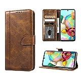 Luburs Samsung Galaxy A51 5G Hülle, Flip Tasche Handyhülle [Einzigartig Magnetverschluss] [Premium PU Leder] [Standfunktion] [Kartenfach] Schutzhülle Stoßfest case für Samsung Galaxy A51 5G