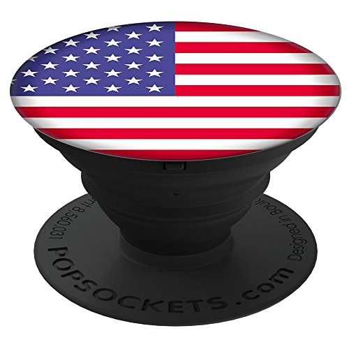 PopSockets: Collapsible Grip & Stand for Phones and Tablets - American Flag