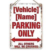 パーソナライズされたカスタム車両駐車場 金属板ブリキ看板警告サイン注意サイン表示パネル情報サイン金属安全サイン