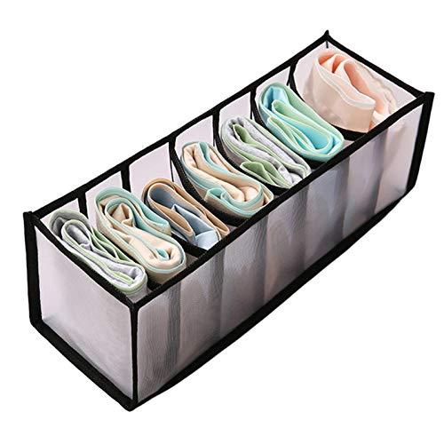 Compartimento del administrador del cajón de ropa interior, caja de almacenamiento de ropa interior plegable, compartimento de almacenamiento de sujetador y calcetines tipo cajón(7 celdas)