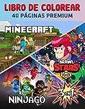 Minecraft Brawl Stars Ninjago Libro De Colorear 3 En 1: Divertidas páginas para colorear con tu Minecraft Brawl Stars Ninjago favorito