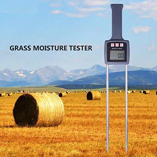 Misuratore di umidità portatile, ad alta precisione, veloce, per erba, fieno, cereali, paglia, crusca, foraggio, leymus chinensis