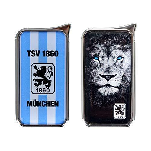 TSV 1860 München Feuerzeug Atomic Doming - offizieller Lizenzartikel (2er Set blau/weiß und Löwe)