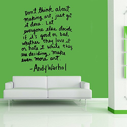 Letters Wall Decor Stickers Andy Warhol Quote Wall Art, Sticker, Mural, Giant, Large, Decal, Vinyl
