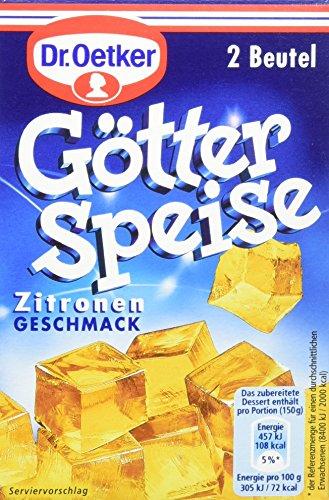 Dr. Oetker Götterspeise Zitronen-Geschmack, 12er Pack (12 x 500 ml Packung)