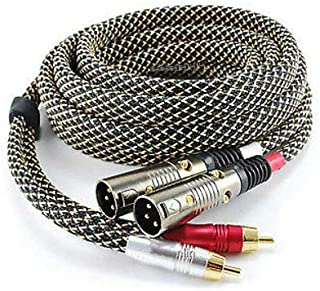 12ft Audio Cable Pro Series 2-RCA Male to 2-XLR Male XR-A212S Tom Nowak