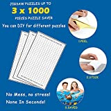 20 Sheets Puzzle Saver, Puzzle Glue and Frame, No Mess Puzzle Saver Kit for Large Puzzles - Use These Puzzle Glue Sheets to Preserve Your Finished Puzzle Save Up to 3 x 1000 Piece Puzzles for Adults