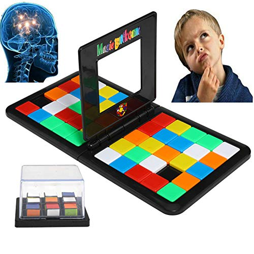 HSGAV Juegos Educativos Magic Block Game Toystablero Desarrollar Cerebros Magic Cube Toy Gift Bloque Colorido Desarrollar Cerebros Inteligentes para Niños Y Adultos