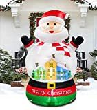 PARAYOYO 8x6 Ft Inflatable Christmas Snow Globe Inflatables Snow Crystal Santa Claus Decoration for Home Yard Lawn Indoor Outdoor