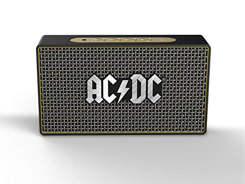 iDance ACDC Classic 3 20W Negro, Oro - Altavoces portátiles (20 W, Inalámbrico y alámbrico, Micro-USB, Negro, Oro, Rectángulo, Giratorio)