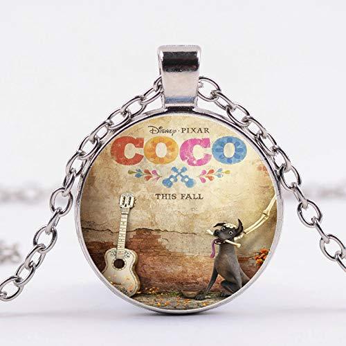 Pixar Film Coco Collar Miguel Hotchpotch foto 3D efecto cristal cabujón colgante...