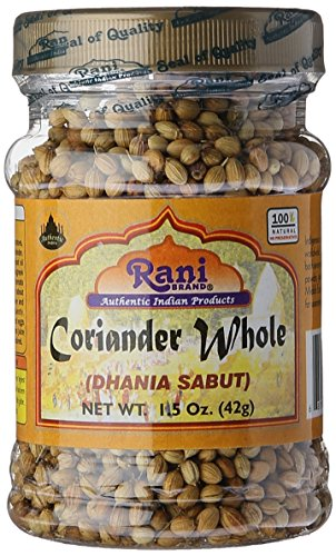 Rani Coriander (Dhania) Seeds Whole, Indian Spice 1.5oz (42g) ~ All Natural | Gluten Friendly | NON-GMO | Vegan | Indian Origin