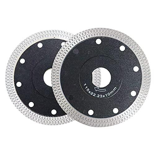 Disco de corte de diamante profesional, extrafino, 115 mm para máquinas manuales, para separar y cortar piedra natural, gres porcelánico, azulejos, cerámica, tejas