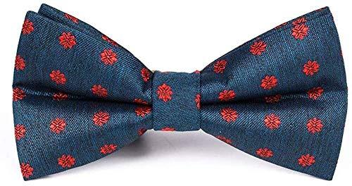 Europäische und amerikanische Mode Wilde Polyester Krawatte Hahn Cashew-Blume Jacquard Polo-Party der Männer beiläufige Gleichheit Komfortabel j0304 (Color : Pb519-b)