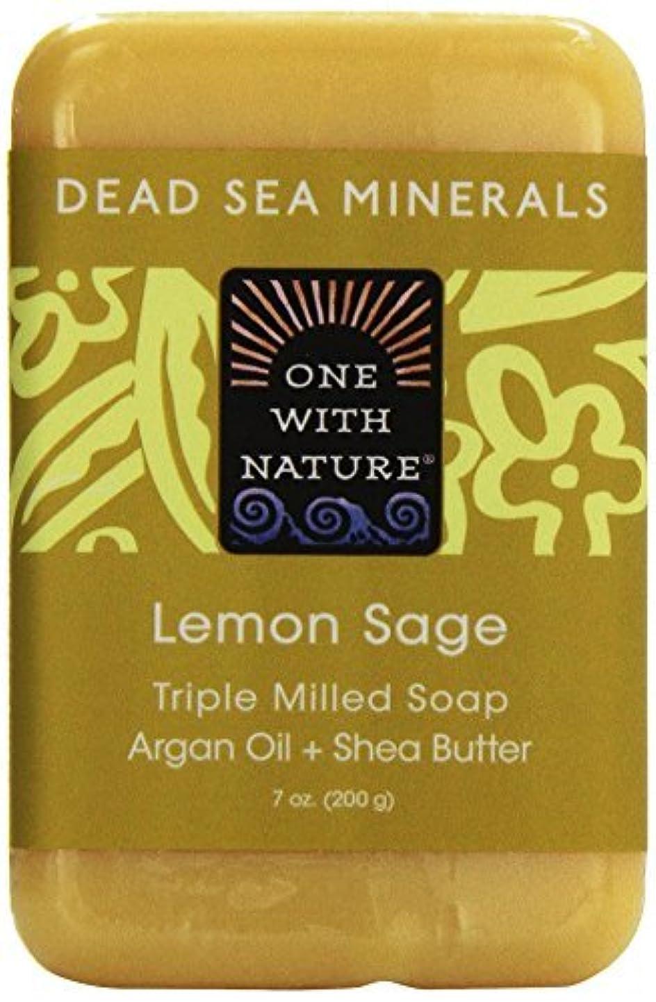 競争刺しますなんでもDead Sea Mineral Lemon Verbena Soap - 7 oz by One With Nature