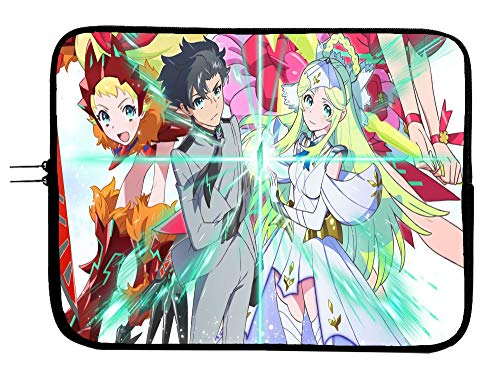 Brand4 Luck and Logic Anime Laptop Sleeve Bag w/Mousepad Surface - Fits Up to 15 Inch Notebook Mac Book Pro MacBook Air Surface Pro All Laptops & Tablets Protector