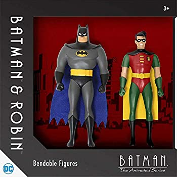NJ Croce Batman the Animated Series Bendable Action Figures Batman and Robin 5.5 Inch Pair