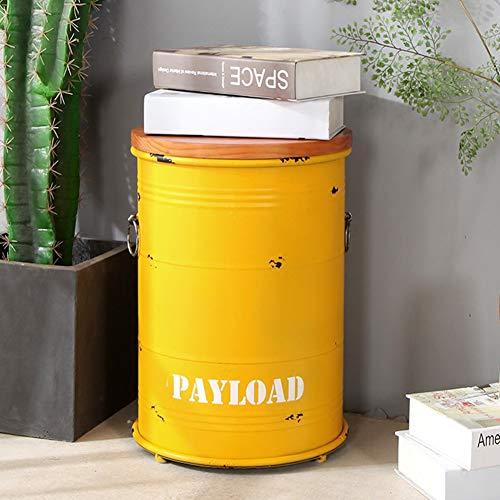 SXFYZCY Aufbewahrungshocker Retro Barhocker Ölfass Hocker Farbe Eimer Barhocker Runder Metallfass Barhocker Aufbewahrungshocker