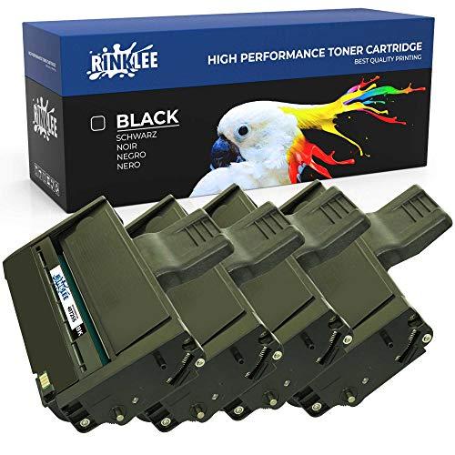RINKLEE 407255 Cartucho de Toner Compatible para Ricoh SP 200 SP 201N/NW SP 202 203S SP 204SF/SFN/SN SP 210 211SF/SU SP 212NW/SNW/SUW/W SP 213NW/SFW/SNW/W | Alta Capacidad 2600 Páginas | Negro, 4-Pack