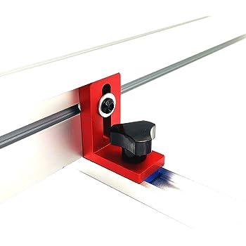 Laecabv T-Track - Guía de inglete de ranura en T, aleación de aluminio, ranura para guía de inglete para sierra de mesa, herramienta de carpintería, rojo: Amazon.es: Bricolaje y herramientas
