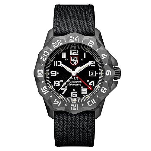 Reloj de cuarzo Luminox Air F-117 Nighthawk, 44mm, 20 atm, PVD, Negro, XA.6421