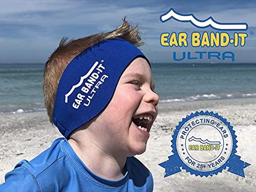 Ear Band-It Stirnband Schwimmen (behalten Wasser, halten Stecker Ohren) empfohlen durch den Arzt und Gewässerschutz Klein (Alter 1-3) Blau