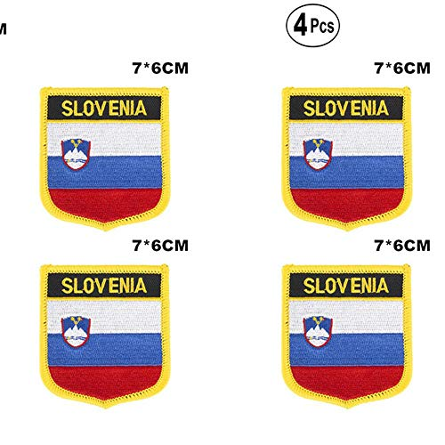 Slovenië Shiled Shape vlag patches nationale vlag patches voor Cothing DIY Decoratie