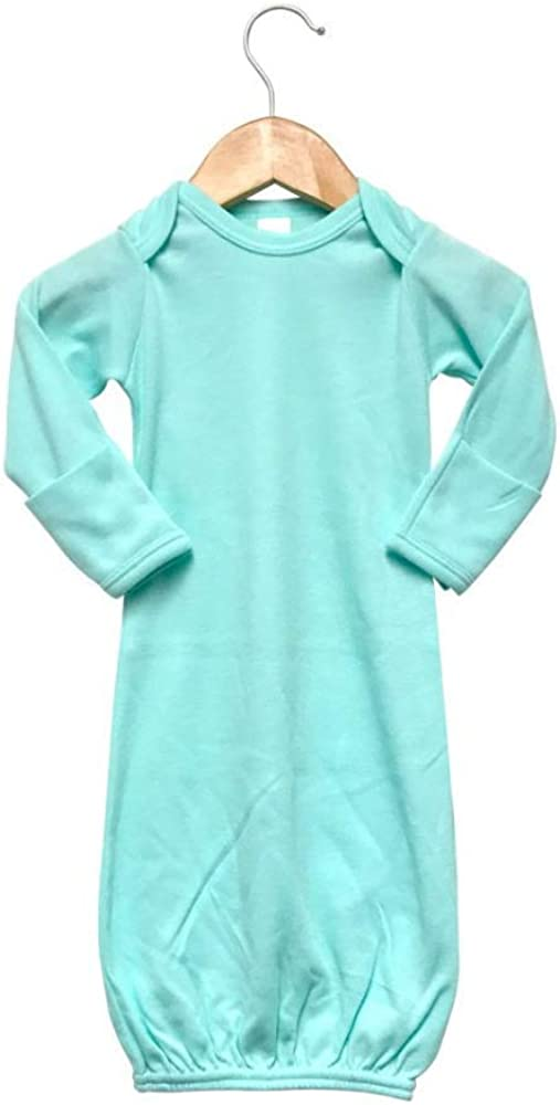 Laughing Giraffe Baby Infant Blank Long Sleeve Sleeper Gown with Mitten Cuffs