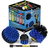 Cleaning Supplies - Drill Brush - Boat Accessories - Marine Spin Brush Set - Kayak - Raft - Boat - Canoe - Inflatable - Fishing Boat - Algae - Pond Scum, Oil Residue, Barnacles, Oxidation - Slime Kit