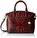 Brahmin Duxbury Satchel Convertible Top Handle Bag, Pecan, One Size