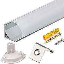Perfil Tira LED Aluminio 45° - 10x1metro Perfil Aluminio Forma de