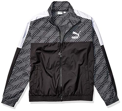 PUMA Herren T7 TRACK JACKET ALL OVER PRINT PANEL Jacke, Black-Repeat Logo, Small