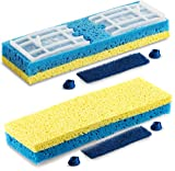 Quickie Sponge Mop Refill Type S [Set of 2] Sponge Mop Head Replacement - Quickie Mop Pads Refills 9X2.75 Inch - Quickie Mop Replacements #045 - Made in USA - Bundled Eraser Cleaning Pad