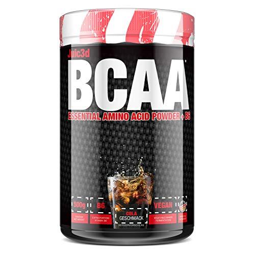 sinob Juic3d BCAA (Cola). Instant Aminosäure Pulver. Vegan, Vitamin B6, Aminos 2:1:1 Leucin, Isoleucin, Valin. 1 x 500g